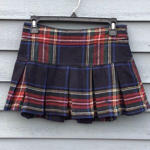 Abercrombie & Fitch Wool Blend Pleated Mini Skirt
